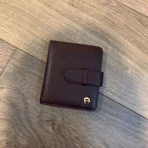 NWOT Etienne Aigner Leather Card Holder Wallet